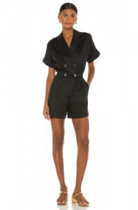 Song of Style Milton Romper in Black