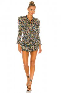 MISA Los Angeles Annika Dress in Abstract Floral