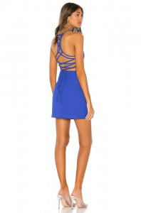superdown Esra Lace Back Dress in Cobalt Blue