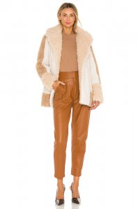 A.L.C. Stan Coat in Cream & Brown Multi