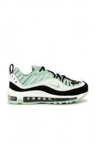 Nike Air Max 98 Sneaker in Pistachio Frost, Black & Summit White