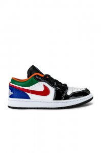 Jordan Air Jordan 1 Low Sneaker in White, Hyper Royal & Universi