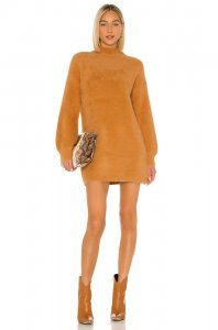 Tularosa Honey Bear Sweater Dress in Honey