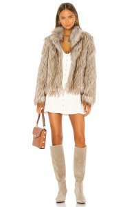 Unreal Fur Fur Delish Jacket in Natural