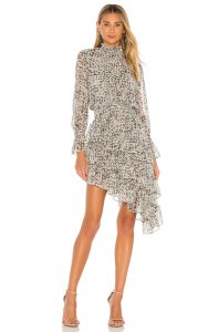 MISA Los Angeles X REVOLVE Savanna Dress in Green Floral