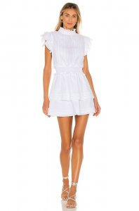 Cleobella Versailles Mini Dress in White