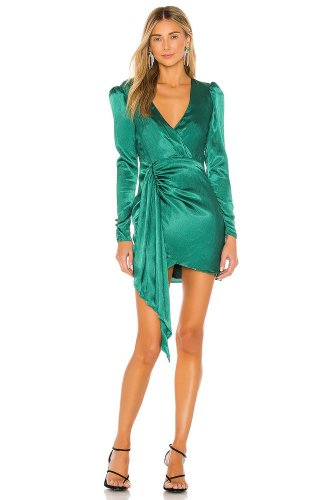 Lovers + Friends Kiara Dress in Emerald