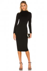 Lovers + Friends Rylan Midi Dress in Black