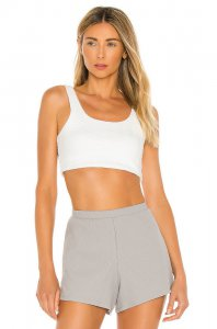 Skin Carmen Crop Top in White