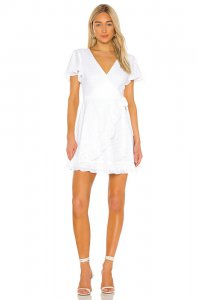 BB Dakota JACK by BB Dakota Easy On The Eyelet Wrap Dress in Opt